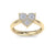 Love ring in white gold with white diamonds of 0.26 ct in weight