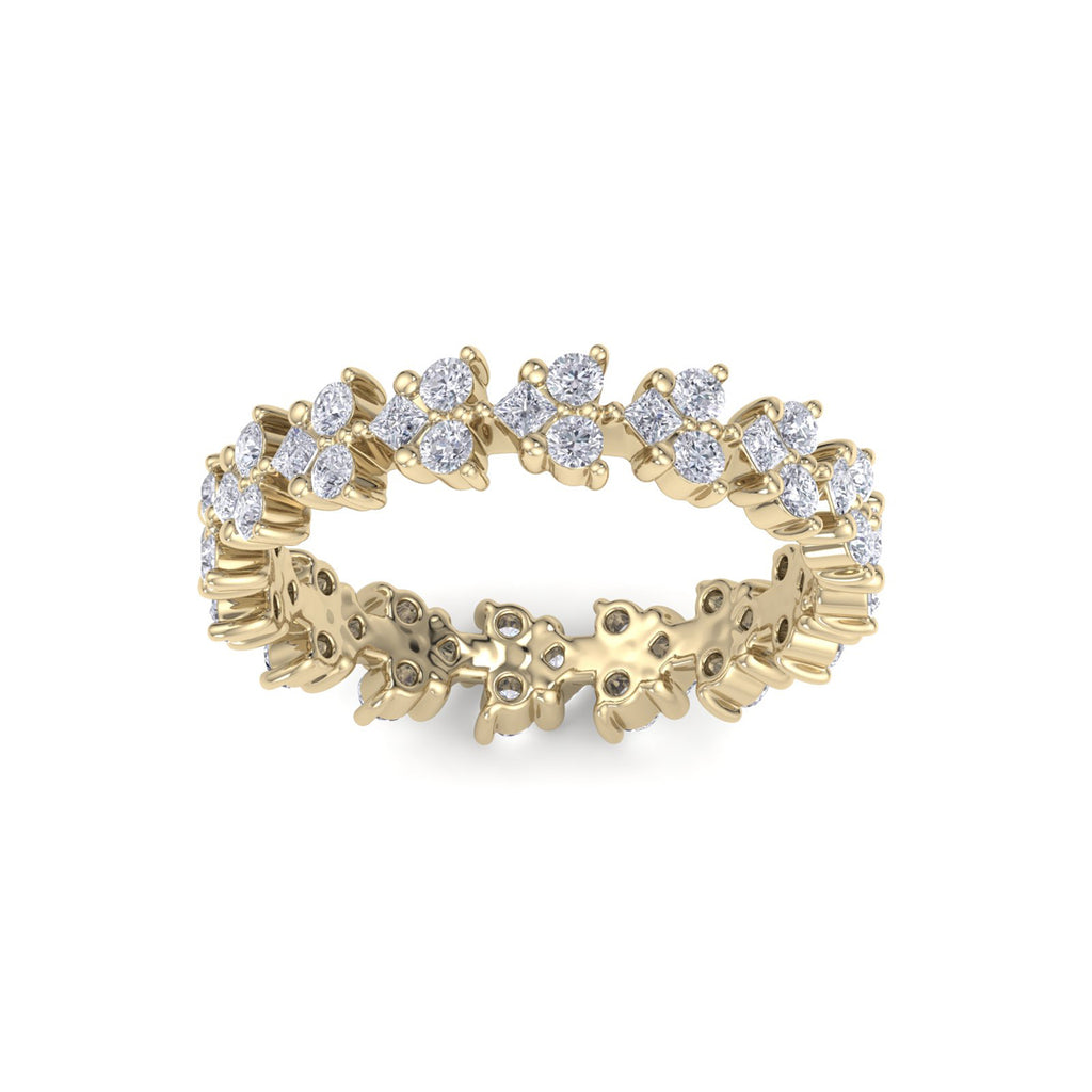 Eternity ring in yellow gold with white diamonds of 1.07 ct in weight