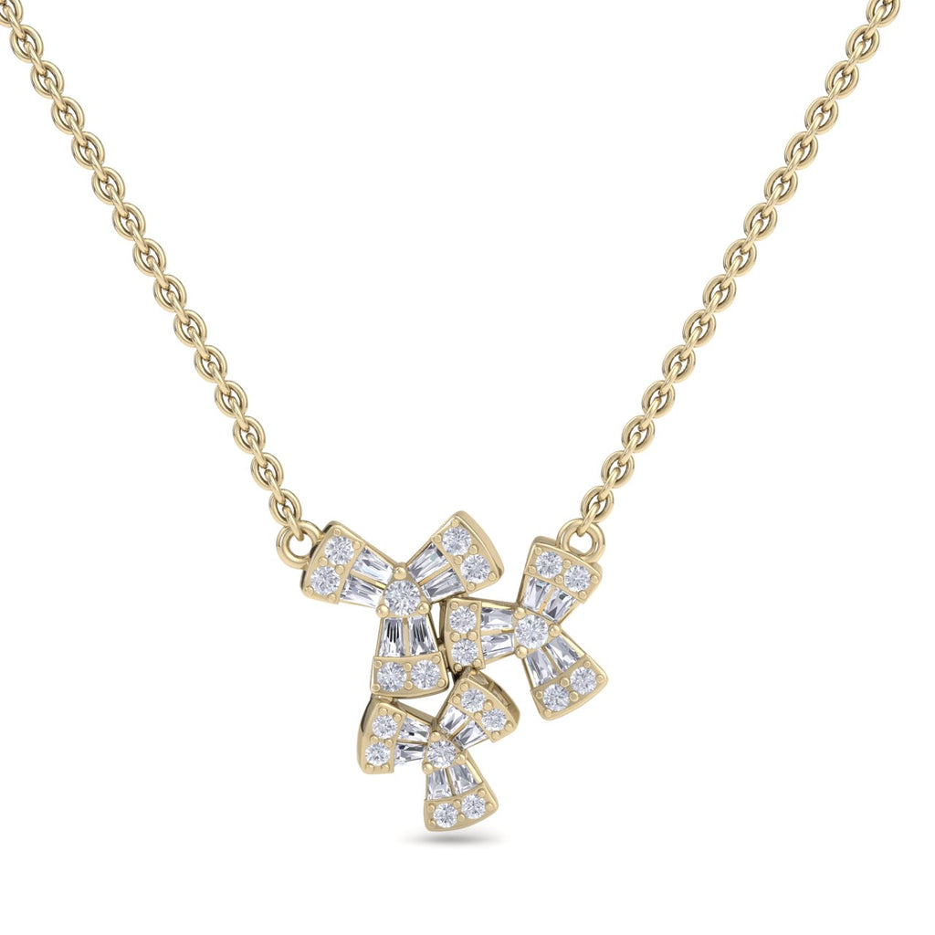 Necklace in yellow gold with white diamonds of 0.39 ct in weight - HER DIAMONDS®