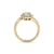 Multi-band ring in yellow gold with white diamonds of 0.79 ct in weight