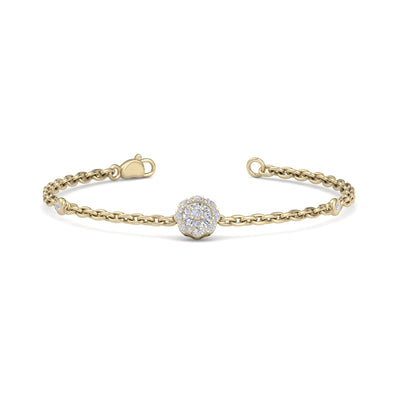 Bracelet in yellow gold with white diamonds of 0.19 ct in weight - HER DIAMONDS®