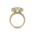 Square shape ring in yellow gold with white diamonds of 0.97 ct in weight