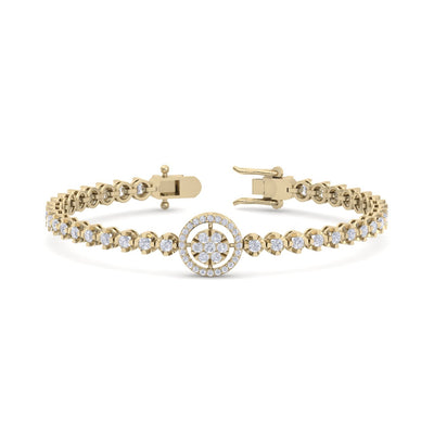 Bracelet in yellow gold with white diamonds of 1.65 ct in weight - HER DIAMONDS®