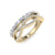 Ring in yellow gold with white diamonds of 0.50 ct in weight