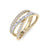 Ring in yellow gold with white diamonds of 0.72 ct in weight