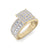 Ring in rose gold with white diamonds of 1.15 ct in weight