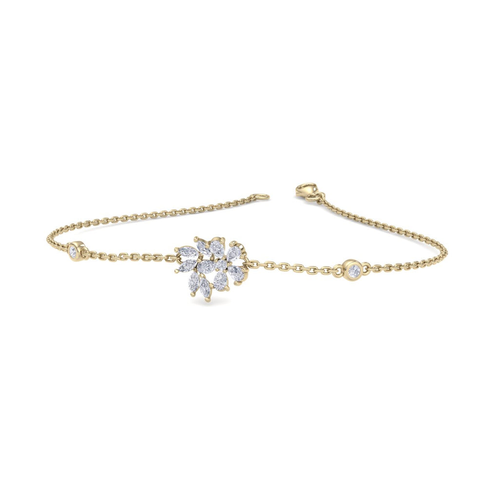 Bracelet in yellow gold with white diamonds of 0.75 ct in weight - HER DIAMONDS®