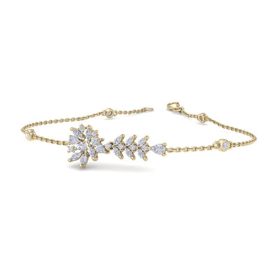 Bracelet in yellow gold with white diamonds of 1.15 ct in weight - HER DIAMONDS®