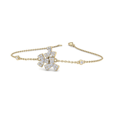 Bracelet in yellow gold with white diamonds of 0.40 ct in weight - HER DIAMONDS®