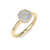 Petite solitarie ring in yellow gold with white diamonds of 0.42 ct in weight