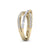 Ring in yellow gold with white diamonds of 1.07 ct in weight