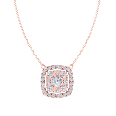 Classic Pendant in rose gold with white diamonds of 2.78 ct in weight