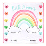 Baby Essentials Little Dreamer Milestone Blanket Growth Chart 3-Piece Set