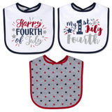 Baby Essentials My First Fourth of July 3-Piece Bib Set