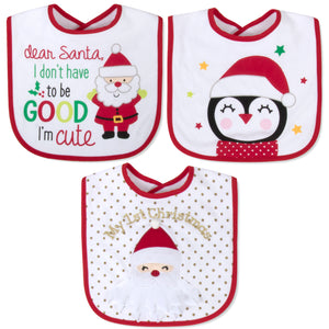 Baby Essentials My First Christmas 3-Piece Bib Set