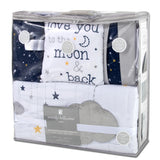 Wendy Bellissimo Starry Night 4-Piece Crib Bedding Set in Navy/White