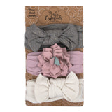 Baby Essentials Bows and Floret 3-Piece Headband Set 0-24mo