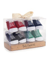 Baby Essentials Colorful Sneaker Socks 4-Pair Socks Set for 0-6 Mos