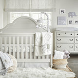 Wendy Bellissimo Hudson Elephant 4-Piece Crib Bedding Set in Grey/White