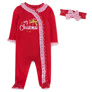 Baby Essentials My First Christmas Footie Pajamas 2-Piece Set