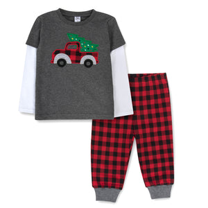 Baby Essentials Christmas Holiday Long Sleeve 2-Piece Set