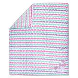 Baby Essentials Fleece Magical Unicorn Striped Baby Blanket - Pink/Purple