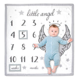 Baby Essentials Little Angel Milestone Blanket Growth Chart 3-Piece Set