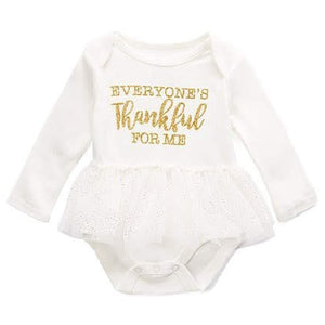 Baby Essentials Thanksgiving Thankful Tutu Creeper