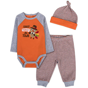 Baby Essentials Thanksgiving Coolest Turkey 3-Piece Set