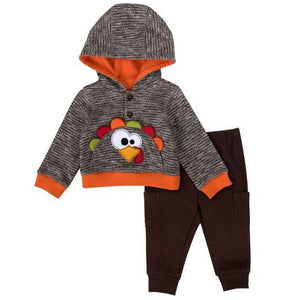 Baby Essentials Thanksgiving Turkey Hoodie 2-Piece Set