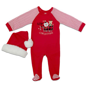 Baby Essentials Baby's 1st Christmas Footies 2-Piece Set
