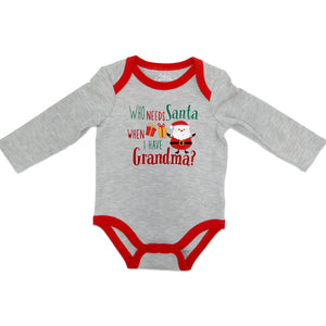 Baby Essentials Holiday Christmas Long Sleeve Creeper