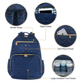 Fisher Price Morgan Quilted Diaper Bag Backpack in Navy Blue