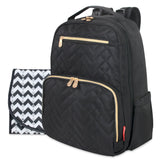 Fisher Price Morgan Quilted Diaper Bag Backpack in Black