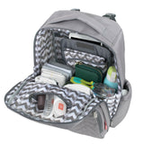 Fisher Price Morgan Quilted Diaper Bag Backpack in Grey