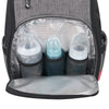 Fisher Price Kaden FastFinder 3-Piece Set Diaper Bag Backpack- Heather Grey/Black