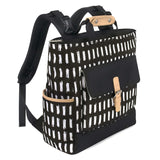 Baby Essentials Wide Frame Striped Diaper Bag Backpack - Black and White
