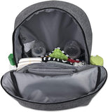 Baby Essentials Simply Basic Diaper Bag Backpack 2 Piece Set - Gray