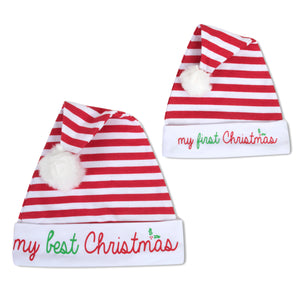 Baby Essentials My First Christmas 2-Piece Hat Set