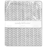 Wendy Bellissimo Hudson Velboa Changing Pad Cover in Grey/White
