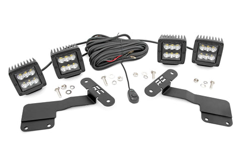 Subaru 2-inch LED Lower Windshield Ditch Kit (15-19 Outback | Black Series Spot Pattern)