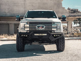 RoadArmor SPARTAN Front Bumper Texture Black for 2017-2020 FORD F-250 F-350 F-450