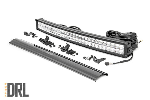 30-inch Curved Cree LED Light Bar - (Dual Row | Chrome Series w/ Cool White DRL)
