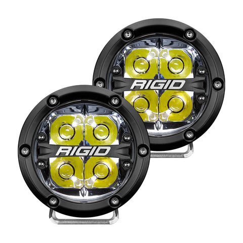 360-SERIES 4 INCH LED OFF-ROAD SPOT BEAM WHT BACKLIGHT|PAIR