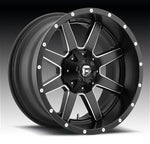 FUEL Offroad Maverick, 20x9 Wheel with 8 on 170 Bolt Pattern - Black Milled - D53820901750