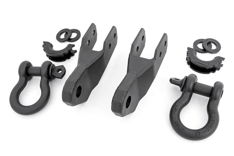 GM Tow Hook to Shackle Conversion Kit w/D-Rings and Rubber Isolators (15-20 Canyon/Colorado)