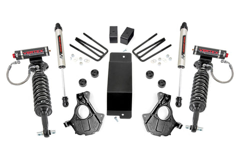 3.5in GM Suspension Lift | Knuckle Kit  w/ Vertex and V2 Shocks (14-18 1500 PU 4wd | Aluminum and Stamped Steel)