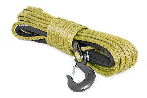 Synthetic Winch Rope - Army Green