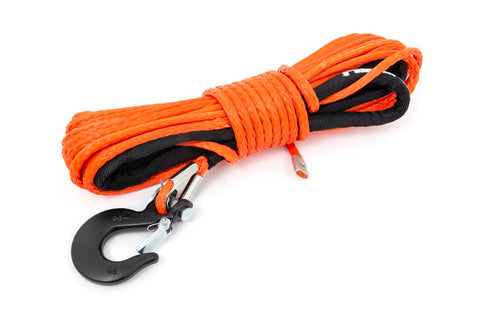 Orange 1/4in Synthetic Winch Rope | UTV, ATV