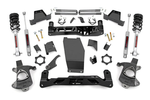 6in GM Suspension Lift Kit w/N3 Struts andamp; N3 Shocks  (14-18 1500 PU 4WD | Cast Steel)